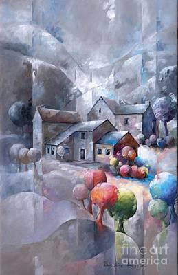 Iced Landscape Poster