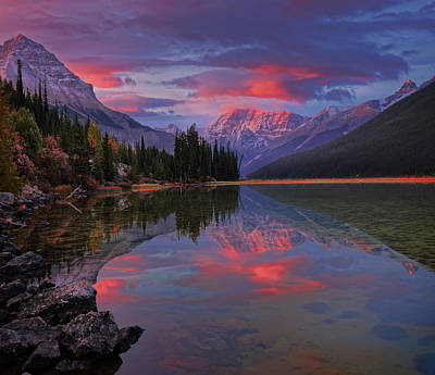 Icefields Parkway Autumn Morning Poster