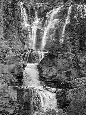 Icefields Waterfall Poster