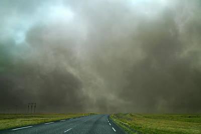 Iceland Dust Storm Reynisfjara Poster