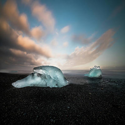 Iceland Glacial Ice Poster