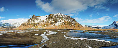 Iceland Landscape Panorama Sudurland Poster by Matthias Hauser