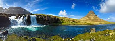 Iceland Panorama Shot Kirkjufell Poster