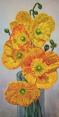 Iceland Poppies 1 Poster by Fiona Craig