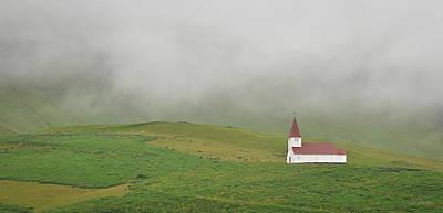 Poster featuring the photograph Icelandic Chapel by Joe Bonita