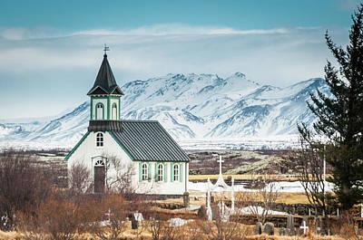 Icelandic Church, Thingvellir Poster