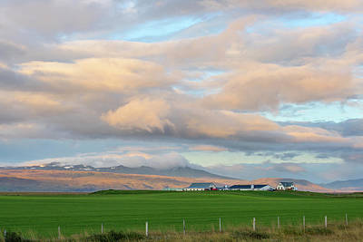 Poster featuring the photograph Icelandic Farmhouse by Brad Scott