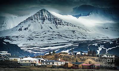 Icelandic Village Poster by Svetlana Sewell