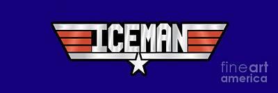 Iceman Callsign Poster by Fernando Miranda