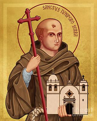 Icon Of Saint Junipero Serra Poster by Lawrence Klimecki