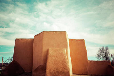 Poster featuring the photograph Iconic Church In Taos by Marilyn Hunt