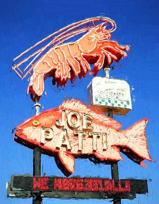 Iconic Joe Patti Seafood Poster by JC Findley