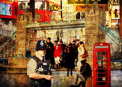 Iconic London Poster by Judi Saunders