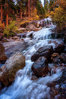 Icy Cascade Waterfalls Poster