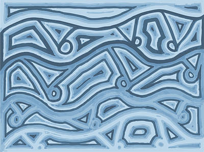 Poster featuring the drawing Icy Layers by Jill Lenzmeier