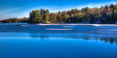 Icy Patterns On The Pond Poster by David Patterson