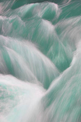 Icy Water Flow Abstract 3 Poster by Jenny Rainbow