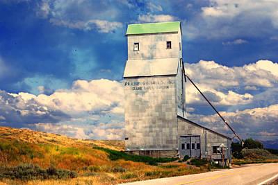 Idaho Grain Elevator Poster