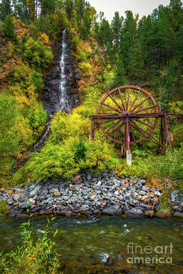 Idaho Springs Water Wheel Poster by Jon Burch Photography