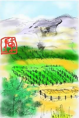 Idaho Vineyard Poster