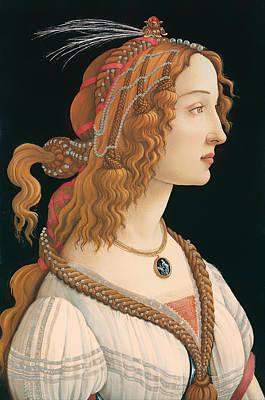 Idealized Portrait Of A Woman Poster