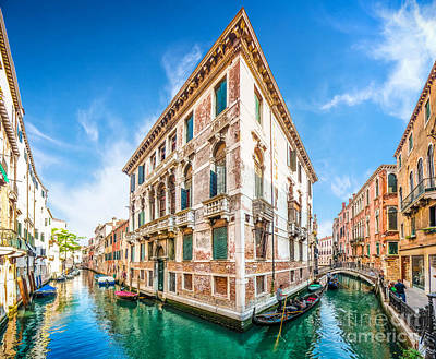 Idyllic Canal In Venice Poster