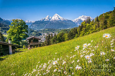 Idyllic Mountain Panorama Poster by JR Photography