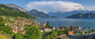 Idyllic Swiss Mountain Lake Scenery Poster by JR Photography