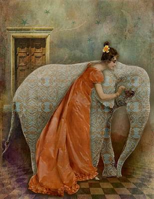 If Elephants Were Painted Poster by Lisa Noneman