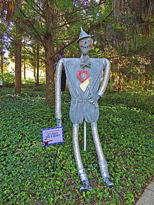 If I Only Had A Heart Scarecrow At Cheekwood Botanical Gardens Poster