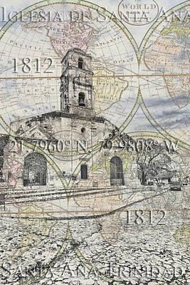 Iglesia De Santa Ana Passport Poster