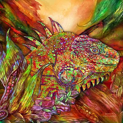 Iguana Hot Poster by Carol Cavalaris