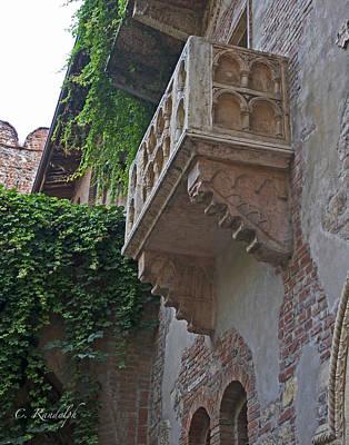 Il Balcone De Giulietta Poster by Cheri Randolph