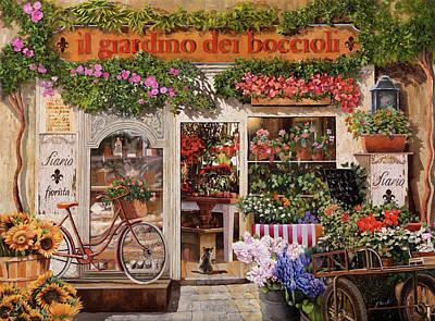 Il Giardino Dei Boccioli Poster by Guido Borelli