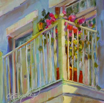 Poster featuring the painting I'll Leave The Porch Light On by Chris Brandley