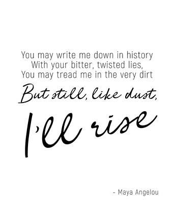 I'll Rise #minimalism Poster