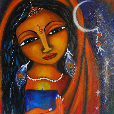 Poster featuring the painting Illuminate by Prerna Poojara