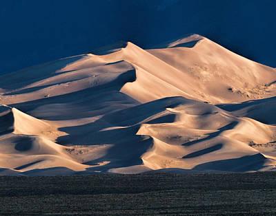 Illuminated Sand Dunes Poster by Alana Thrower