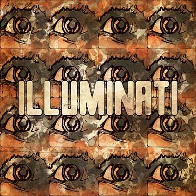 Illuminati Eyes By Mb And Rt Poster by Raphael Terra