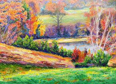 Poster featuring the painting Illuminating Colors Of Fall by Lee Nixon
