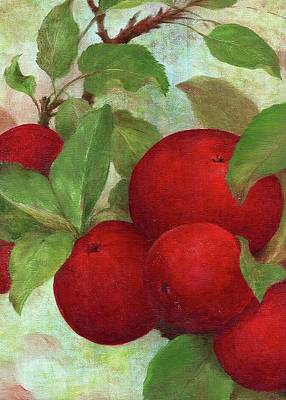 Poster featuring the painting Illustrated Apples by Judith Cheng