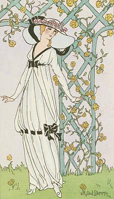 Illustration From Journal Des Dames Et Des Modes Poster by H Robert Dammy