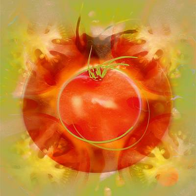 Illustration Of Tomato Poster