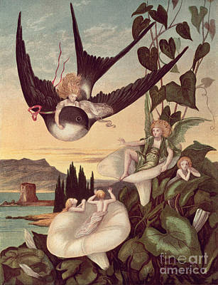 Illustration To 'thumbkinetta' Poster by Eleanor Vere Boyle and Hans Christian Andersen