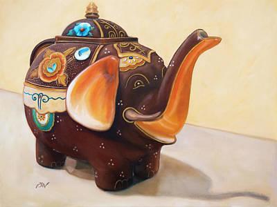 I'm A Little Teapot - Original Oil Painting Poster