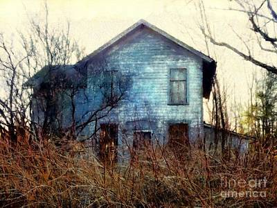 Poster featuring the photograph I'm Not Home Right Now, Please Leave A Message - Abandoned Farmhouse by Janine Riley