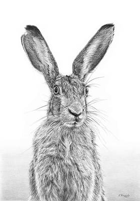 I'm Over Hare Poster by Frances Vincent