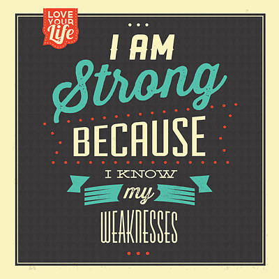 I'm Strong Poster by Naxart Studio