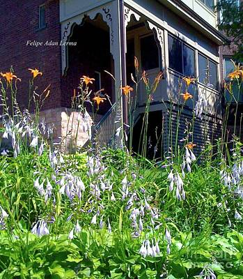 Image Included In Queen The Novel - New England Victorian House Poster by Felipe Adan Lerma