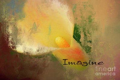 Imagine Calla Lily Abstract Poster